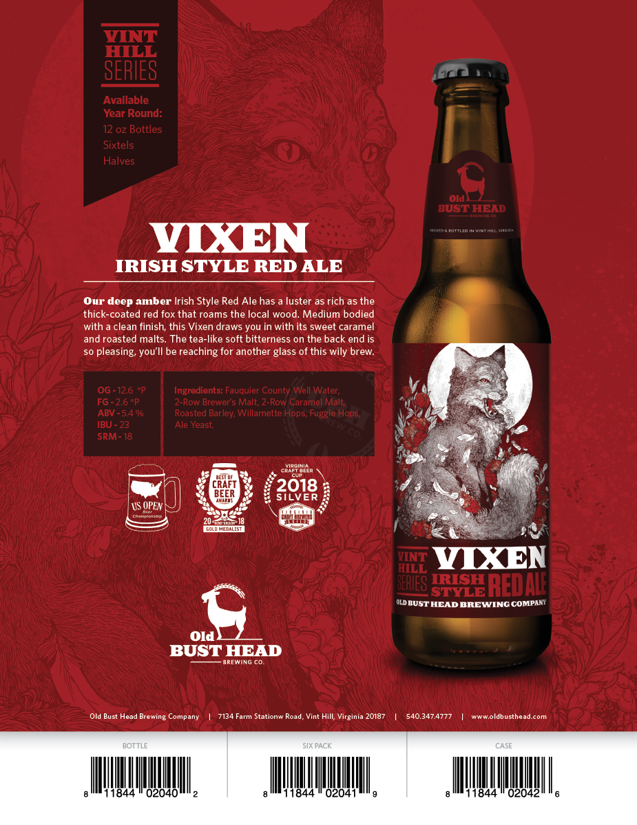 0b96eecdc46 ... Vixen draws you in with a sweet caramel allure up front and gives chase  with hints of roasted malt through the taste. A tea-like soft bitterness on  the ...