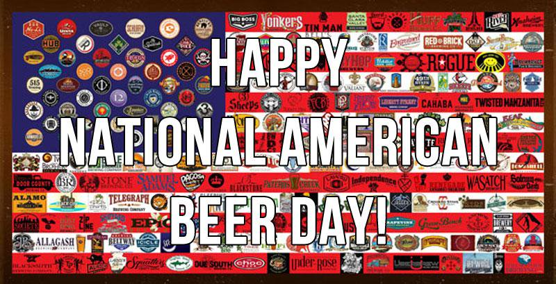 National American Beer Day Old Bust Head